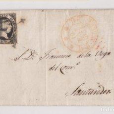 Sellos: CARTA ENTERA. BURGOS A SANTANDER. 1851. EDIFIL 6.. Lote 222844758