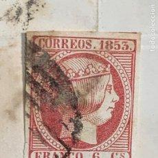 Sellos: CARTA 1853 SANTANDER BOCOS VILLARCAYO BURGOS COMERCIO CEREALES COBROS SELLO SUELTO FRANCO 6CS. Lote 223158247