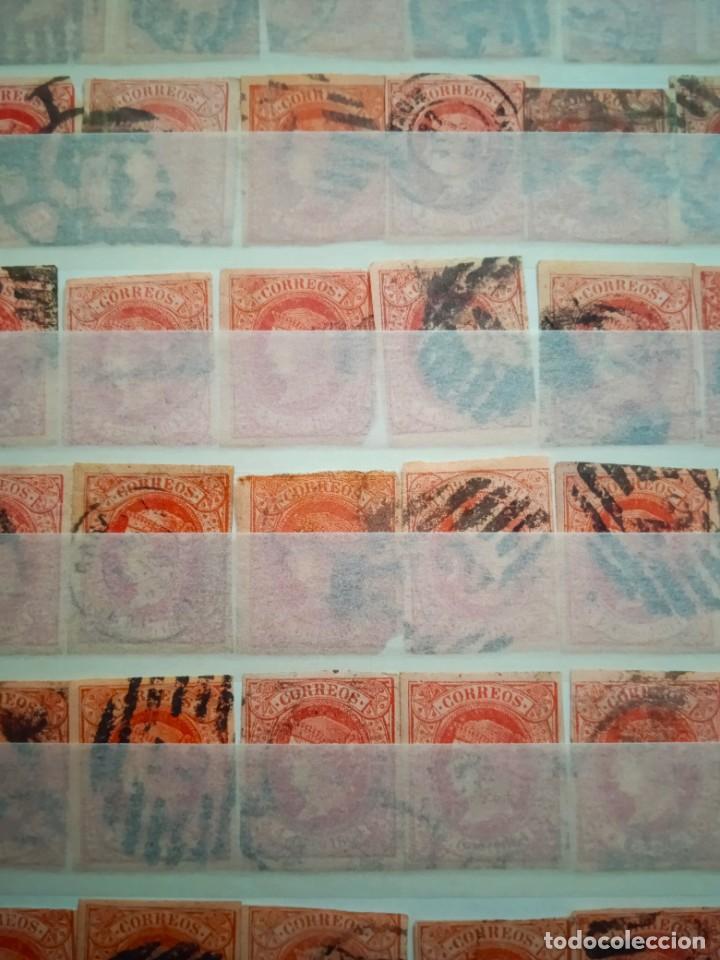 Sellos: LOTE DE 100 SELLOS ISABEL II. AÑO 1864. - Foto 5 - 224318975