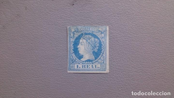 ESPAÑA - 1860-61 - ISABEL II - EDIFIL 55 - MH* - NUEVO CON GOMA - VALOR CATALOGO 385€. (Sellos - España - Isabel II de 1.850 a 1.869 - Nuevos)