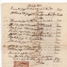 Sellos: CURIOSA CARTA COMERCIAL CON GIRO 201 ESCUDOS A 500. MADRID, AÑOS 1868-1869. Lote 224865932