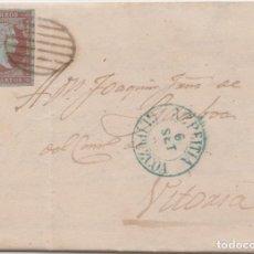 Sellos: CARTA CIRCULADA DE AZPEITIA (GUIPUZCOA) A VITORIA - 1855. Lote 225106490