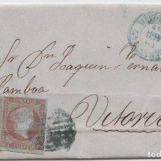 Sellos: CARTA CIRCULADA DE SAN SEBASTIAN A VITORIA - 1855. Lote 225107670