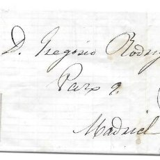 Sellos: CIUDAD REAL. RUEDA DE CARRETA Nº 24 EDIFIL 58. ENVUELTA DE CIUDAD REAL A MADRID. 1863. Lote 225831520