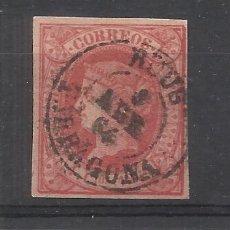 Francobolli: ISABEL II 1864 EDIFIL 64 FECHADOR REUS TARRAGONA. Lote 226779817