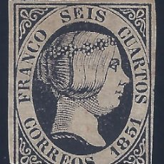 Sellos: EDIFIL 6 ISABEL II. AÑO 1851. VALOR CATÁLOGO: 375 €.MNG.. Lote 227087165
