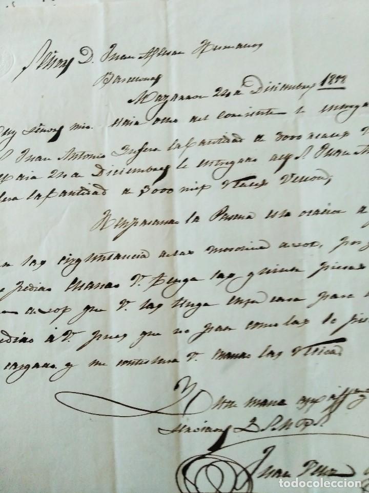 Sellos: 2 CARTAS ALMAZARRÓN/MAZARRÓN A BARCELONA. 1858. JUAN VÉLEZ A ALESAN HERMANOS. - Foto 2 - 227465299