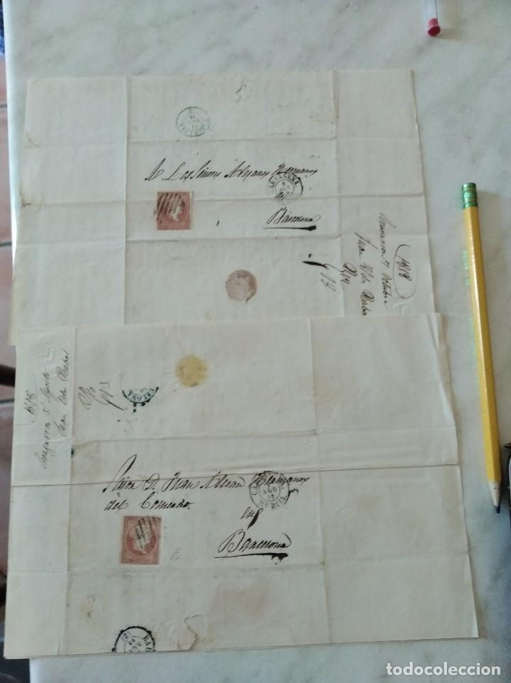 Sellos: 2 CARTAS ALMAZARRÓN/MAZARRÓN A BARCELONA. 1858. JUAN VÉLEZ A ALESAN HERMANOS. - Foto 4 - 227465299