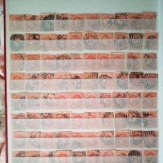 Sellos: 100 SELLOS DE CORREOS ISABEL II. 4 CUARTOS DE 1864. Lote 229042105