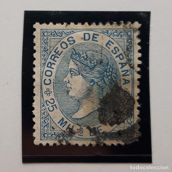 EDIFIL 97, 25 MIL, ISABEL II, USADO, 1868 (Sellos - España - Isabel II de 1.850 a 1.869 - Usados)
