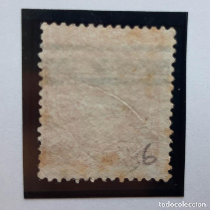 Sellos: Edifil 108, 100 mil, Isabel II, barrado, 1870 - Foto 2 - 232091125