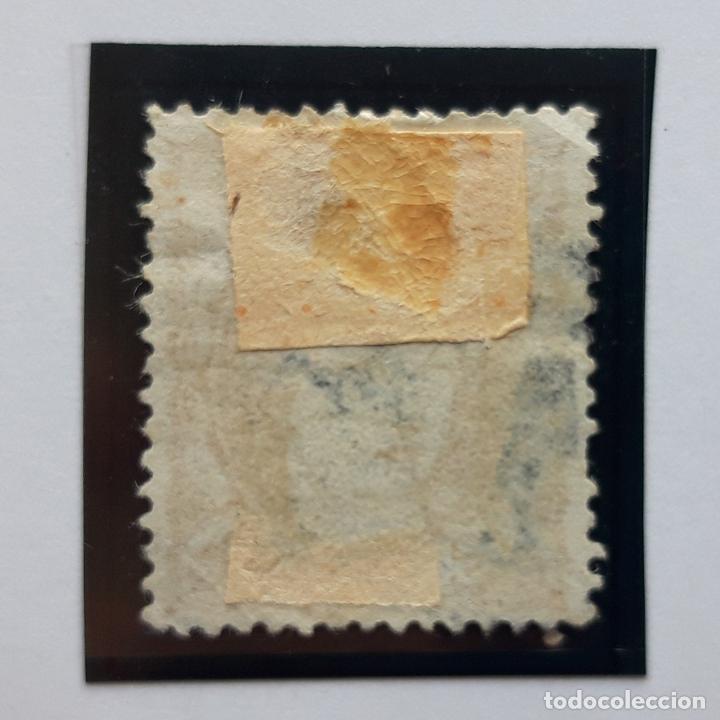 Sellos: Edifil 113, 12 cuartos, Isabel II, usado, 1870 - Foto 2 - 232091160