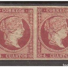 Sellos: 1855 ISABEL II EDIFIL 48 TIPO IV - VALOR CATALOGO 20,00€ - PAREJA NUEVA. Lote 232918315