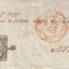 Sellos: ESPAÑA, BONITO FRONTAL DE CARTA DEL AÑO 1850. Lote 233429760