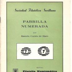 Sellos: LIBRO ESTUDIO DE LAS PARRILLAS NUMERADAS. Lote 234278695