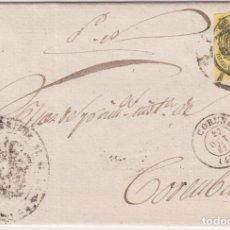 Sellos: CARTA CON SELLO DEL SERVICIO OFICIAL CURSADA EN LA CORUÑA - GALICIA - EN 1861. Lote 234706430