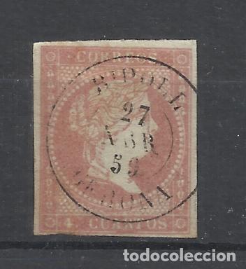 ISABEL II 1855 EDIFIL 48 FECHADOR RIPOLL GIRONA GERONA (Sellos - España - Isabel II de 1.850 a 1.869 - Usados)