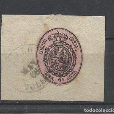 Sellos: ESCUDO 1855 EDIFIL 36 FECHADOR LILLO TOLEDO. Lote 234806025