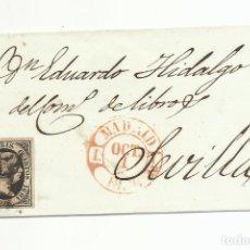 Sellos: ENVUELTA CIRCULADA 1851 DE MADRID A SEVILLA. Lote 235089505