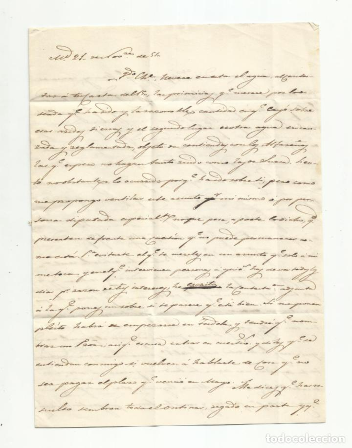 Sellos: circulada y escrita 1851 de madrid a corella navarra - Foto 2 - 235089825