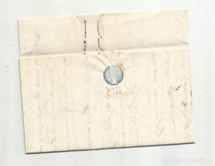 Sellos: circulada y escrita 1851 de madrid a corella navarra - Foto 3 - 235089825