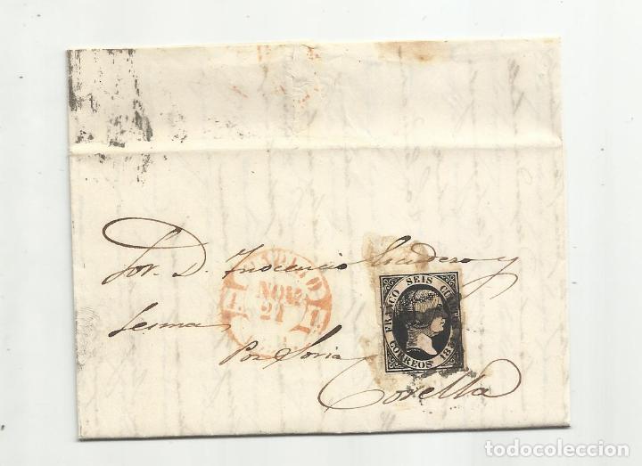 CIRCULADA Y ESCRITA 1851 DE MADRID A CORELLA NAVARRA (Sellos - España - Isabel II de 1.850 a 1.869 - Cartas)