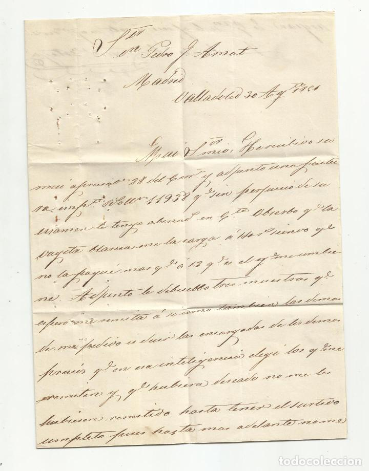 Sellos: circulada y escrita 1851 de valladolid a madrid - Foto 2 - 235091980