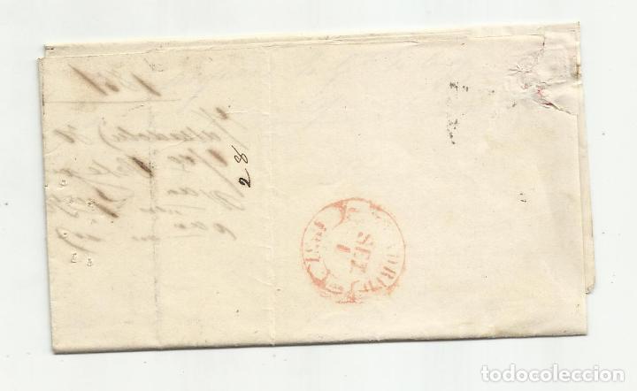 Sellos: circulada y escrita 1851 de valladolid a madrid - Foto 3 - 235091980