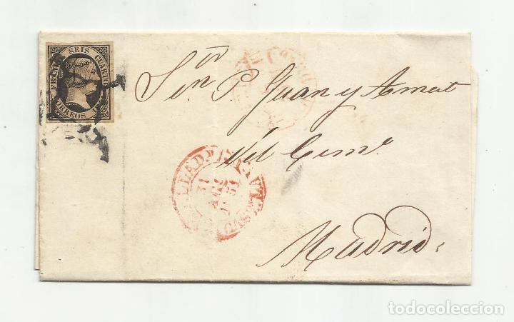 CIRCULADA Y ESCRITA 1851 DE VALLADOLID A MADRID (Sellos - España - Isabel II de 1.850 a 1.869 - Cartas)