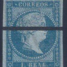 Francobolli: EDIFIL 41M ISABEL II. AÑO 1855 (VARIEDAD...MUESTRA). VALOR CATÁLOGO ESPECIALIZADO: 125 €. LUJO.. Lote 235587365