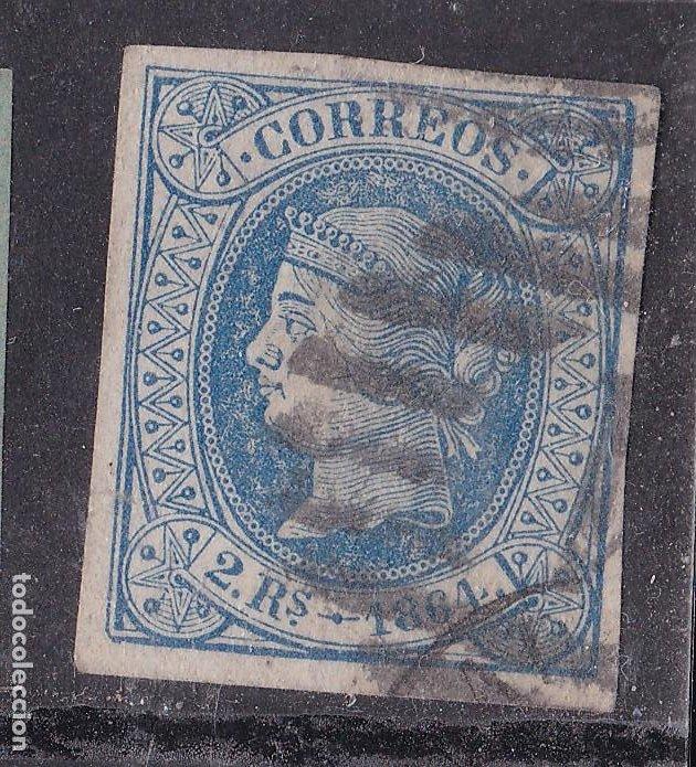 JJ31- CLÁSICOS EDIFIL 68 USADO.PERFECTO. DOBLE MATASELLOS MADRID (Sellos - España - Isabel II de 1.850 a 1.869 - Usados)