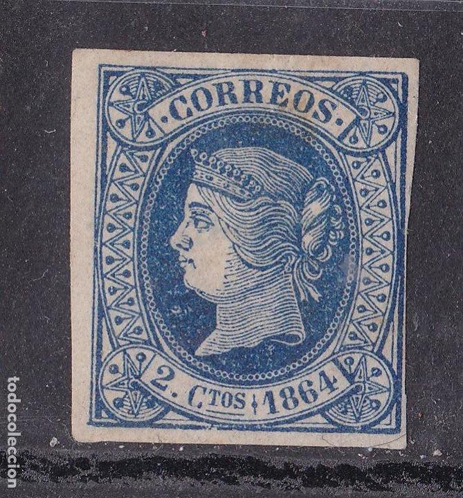 JJ31- CLÁSICOS EDIFIL 63 NUEVO * CON FIJASELLOS . MARQUILLADO (Sellos - España - Isabel II de 1.850 a 1.869 - Nuevos)