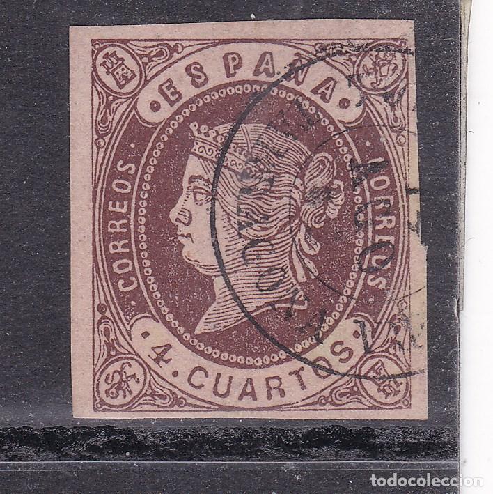 JJ31- CLÁSICOS EDIFIL 58A. USADO TORREDEMBARRA TARRAGONA (Sellos - España - Isabel II de 1.850 a 1.869 - Usados)