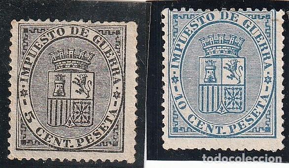 .EDIFIL Nº141 Y 142.NEGRO Y AZUL.5CS Y 10CS.NUEVOS.IMPECABLES.ESPAÑAISABEL II DE 1850 A 1869 (Sellos - España - Isabel II de 1.850 a 1.869 - Nuevos)