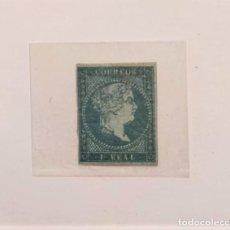 Sellos: 1 REAL DE ISABEL II. S/C. AÑO 1855. Lote 239449635