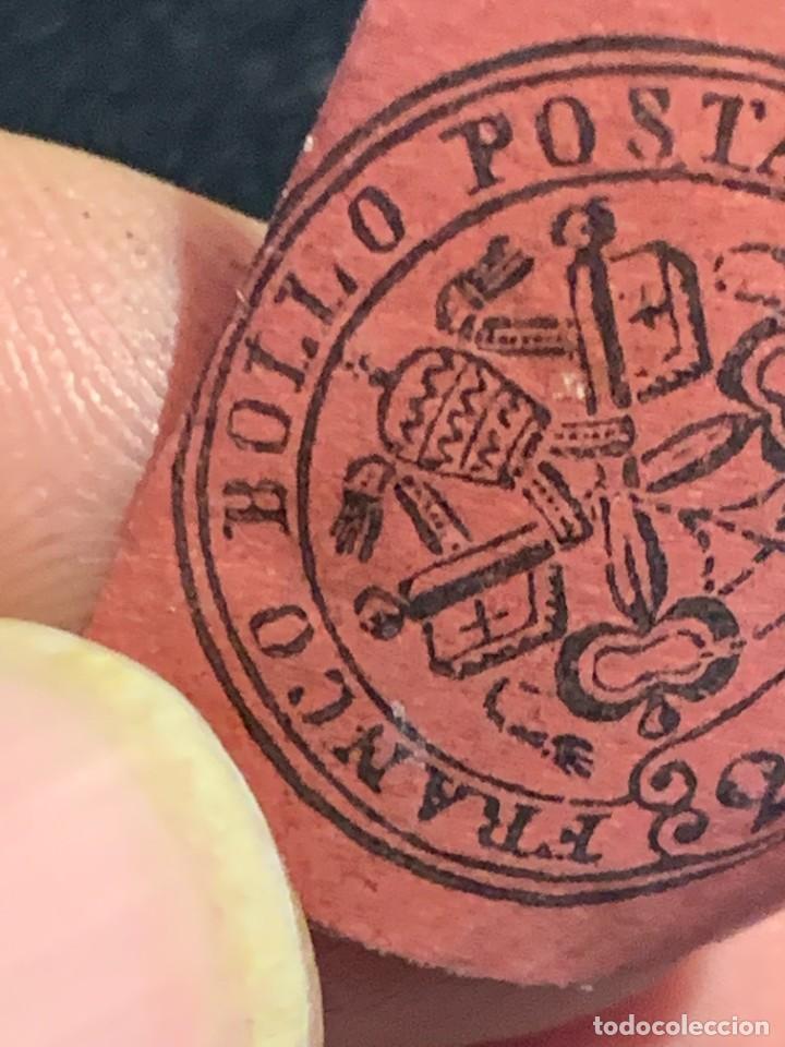 Sellos: FRANCO BOLLO POSTAL MITRA LLAVES 20 CENT BURDEOS ROJO - Foto 3 - 240610935