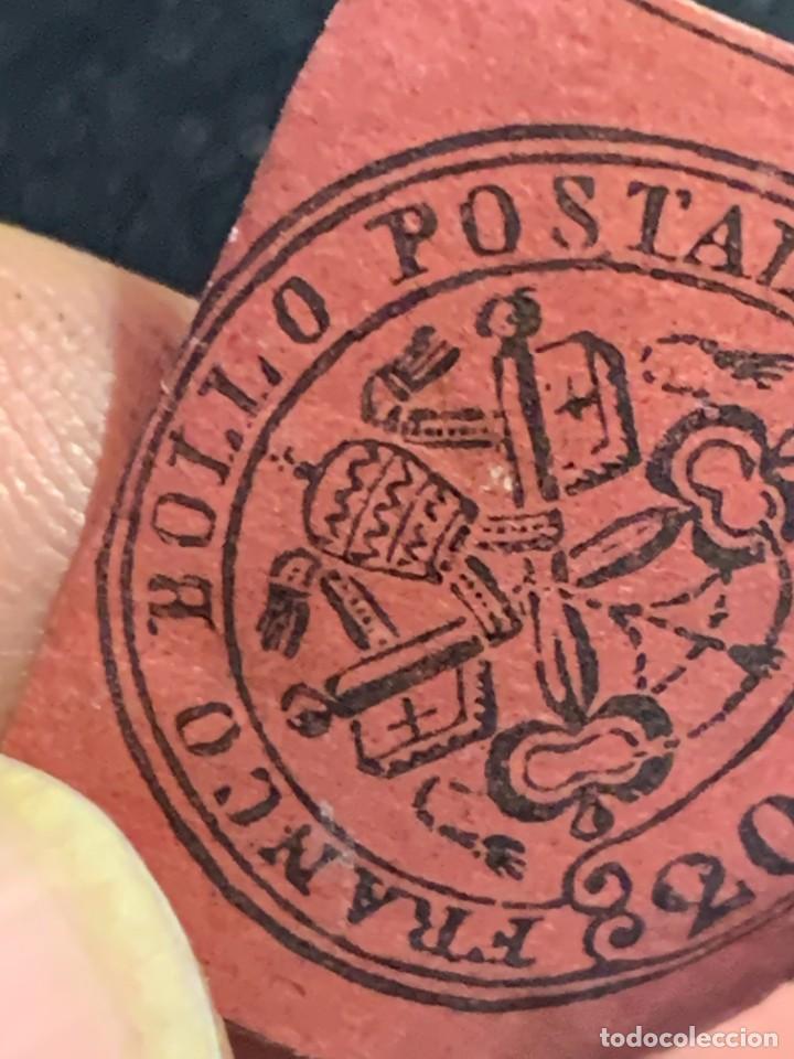 Sellos: FRANCO BOLLO POSTAL MITRA LLAVES 20 CENT BURDEOS ROJO - Foto 4 - 240610935