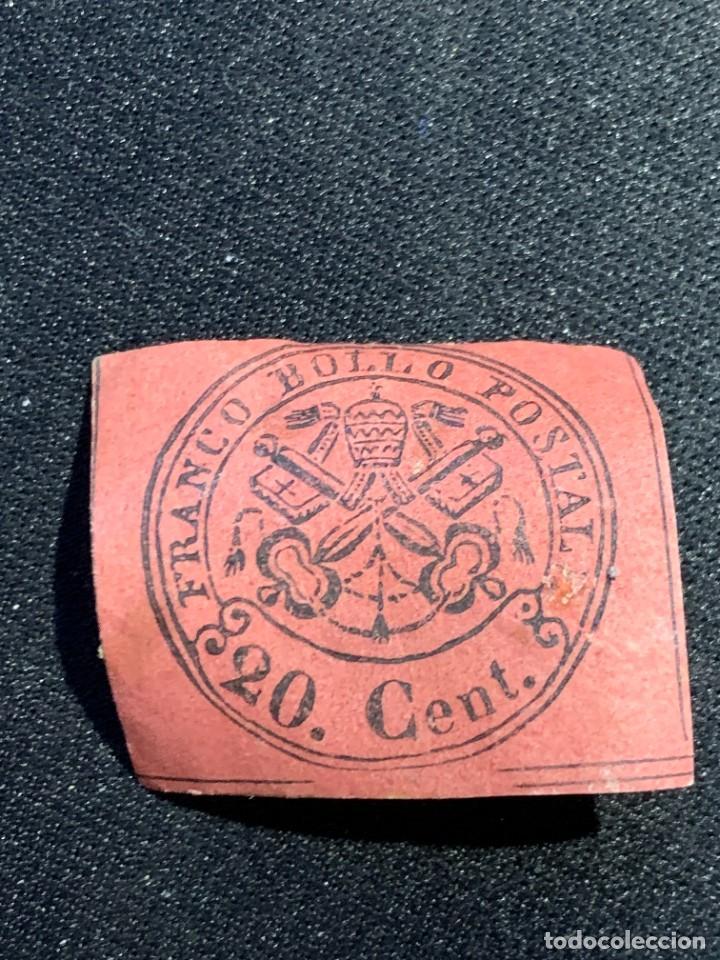 Sellos: FRANCO BOLLO POSTAL MITRA LLAVES 20 CENT BURDEOS ROJO - Foto 6 - 240610935