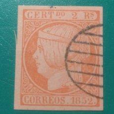 Sellos: ESPAÑA. 1852. EDIFIL 14. ( FALSO FILATÉLICO ).. Lote 241495580