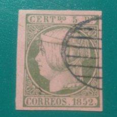 Sellos: ESPAÑA. 1852. EDIFIL 15. ( FALSO FILATÉLICO ).. Lote 241522380