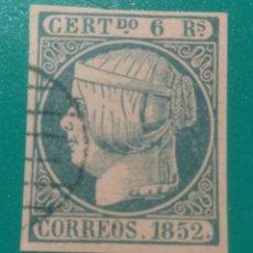 Sellos: ESPAÑA. 1852. EDIFIL 16. ( FALSO FILATÉLICO ).. Lote 241525055