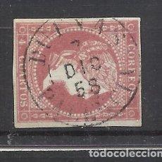 Selos: ISABEL II 1855 EDIFIL 48 FECHADOR DUEÑAS PALENCIA. Lote 241835690