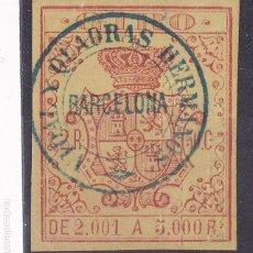 Timbres: SS12- FISCAL GIRO DOBLE MATASELLOS VIDAL QUADRAS Y RAMÓN CUYAS . BARCELONA. Lote 243140415