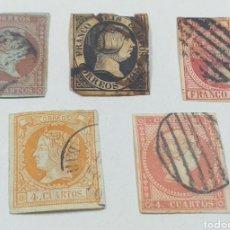 Sellos: LOTE DE SELLOS ISABEL II 4 Y 6 CENTIMOS AÑO 1851. Lote 243542770