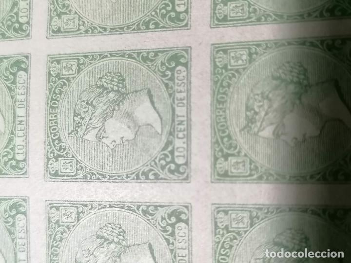 Sellos: España Falso Filatelico lote sellos 50 sellos pliego hoja nuevo Edifil 84 impreso años 1920 aprox - Foto 2 - 243926490