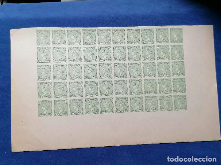 Sellos: España Falso Filatelico lote sellos 50 sellos pliego hoja nuevo Edifil 84 impreso años 1920 aprox - Foto 3 - 243926490