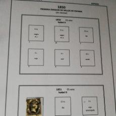 Sellos: LOTE SELLOS 1850 A 1864. EDIFIL 35/38,28,6,12,17,24 ETC. Lote 244118580