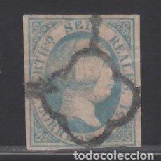 Sellos: ESPAÑA. 1851 EDIFIL Nº 10 B, ISABEL II. 6 R. AZUL CLARO.. Lote 244352170