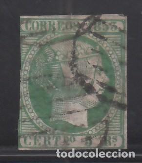 ESPAÑA. 1853 EDIFIL Nº 20, ISABEL II. 5 R. VERDE. (Sellos - España - Isabel II de 1.850 a 1.869 - Usados)