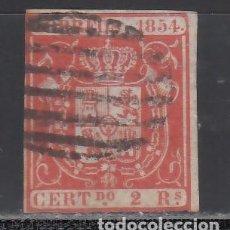 Sellos: ESPAÑA. 1854 EDIFIL Nº 25. ESCUDO DE ESPAÑA. 2 R. ROJO.. Lote 244400770
